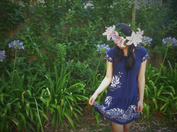 Funny Hat Friday: Lily Fresh flower crown