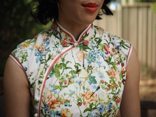 Chinese New Year floral cheongsam