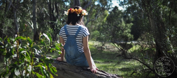Funny Hat Friday: Daisies and fresias fresh flowercrown with overalls